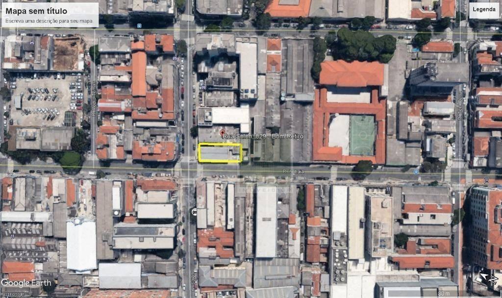 terreno para alugar, 348 m² por r$ 9.000/mês - bom retiro - são paulo/sp - te0076