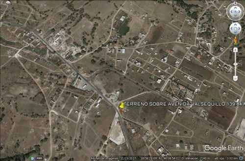 terreno para negocio sobre avenida valsequillo     139.84 m