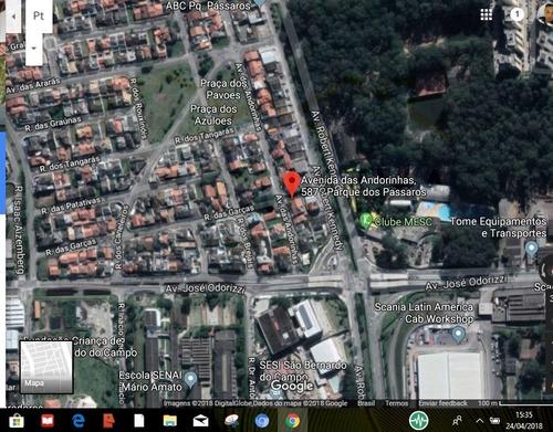 terreno para venda, 300.0 m2, parque dos passaros - são bernardo do campo - 3821