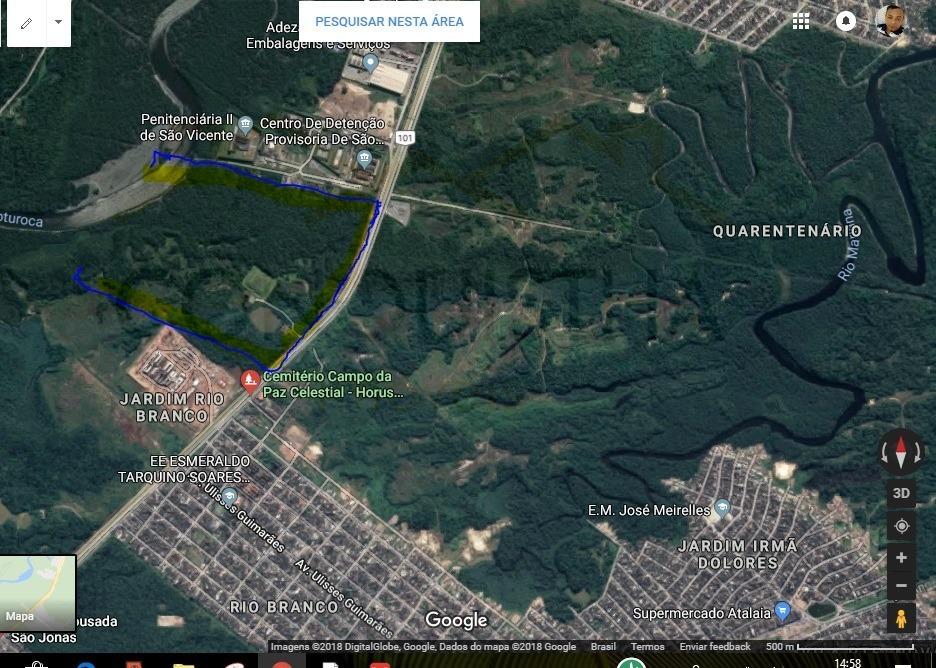 terreno para venda, 672000.0 m2, samarita - são vicente - 3886