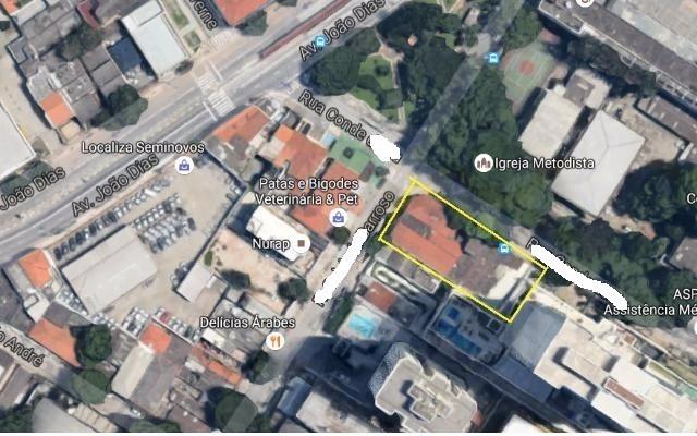 terreno para venda, 810.0 m2, jardim santo amaro - são paulo - 3453
