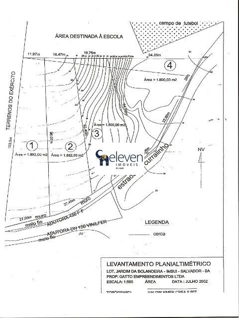 terreno para venda ou locação imbui, salvador, 1.800 m² área total. - tr00157 - 32753260