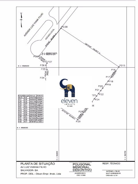 terreno para venda paralela, salvador valor r$ 63.000.0000,00 com área total de 15.600 m², excelente localização . - tbm402 - 4416885