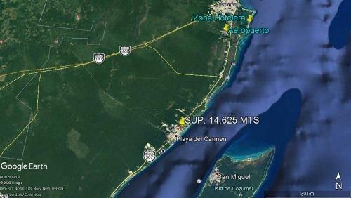 terreno p/comercio o desarrollo playa del carmen sup. 14,625