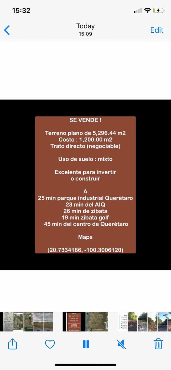 terreno plano col. santa cruz, marques, qro 5,296.44 m2