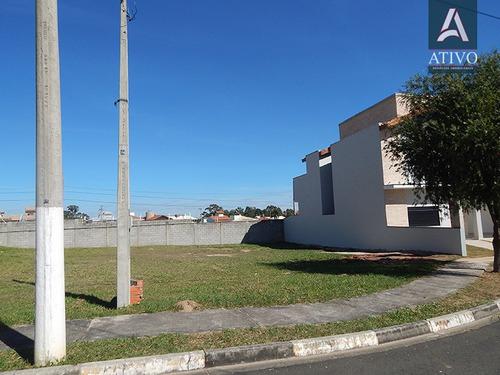 terreno plano com 344m² em condomínio completo