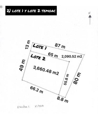 terreno plano, temoac, morelos, ideal para desarrolladores...rx- 3033