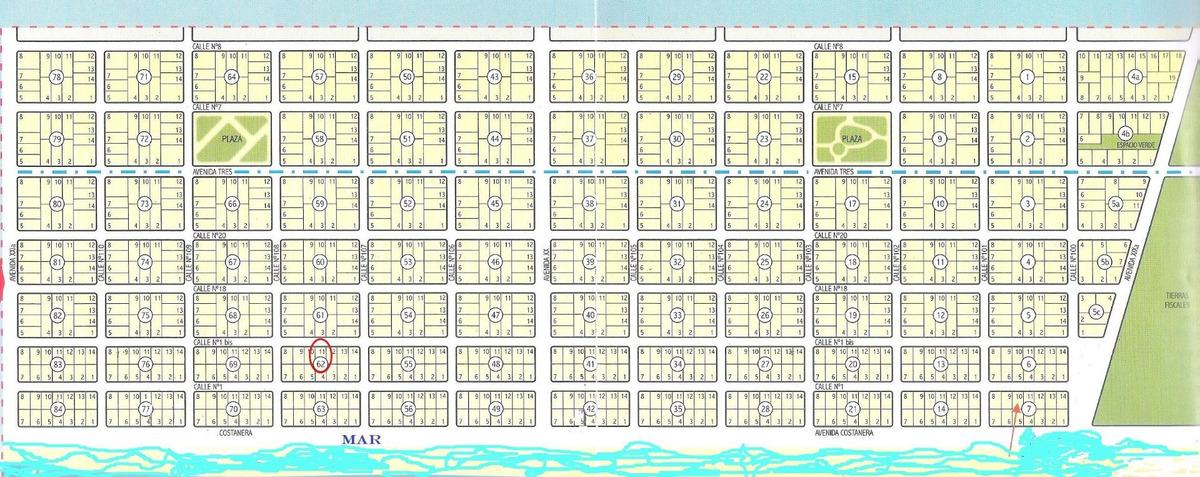 terreno playa grande san clemente del tuyú a 80 mts del mar