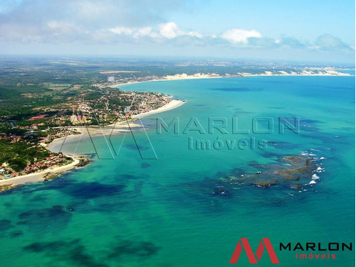terreno praia de pirangi com 1.400m², visão para o mar