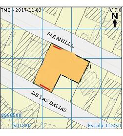 terreno - propiedad  651m2.   dos frentes