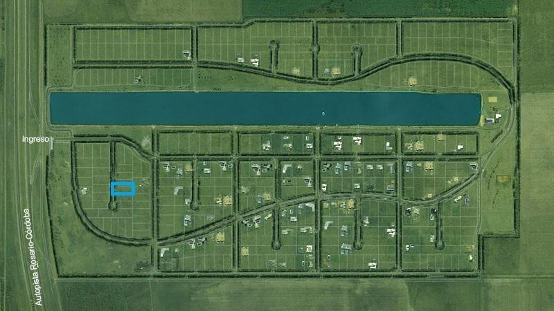 terreno - puerto roldán a 1 cuadra del lago