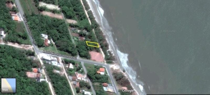 terreno quadra mar em oferta em itapoá sc.