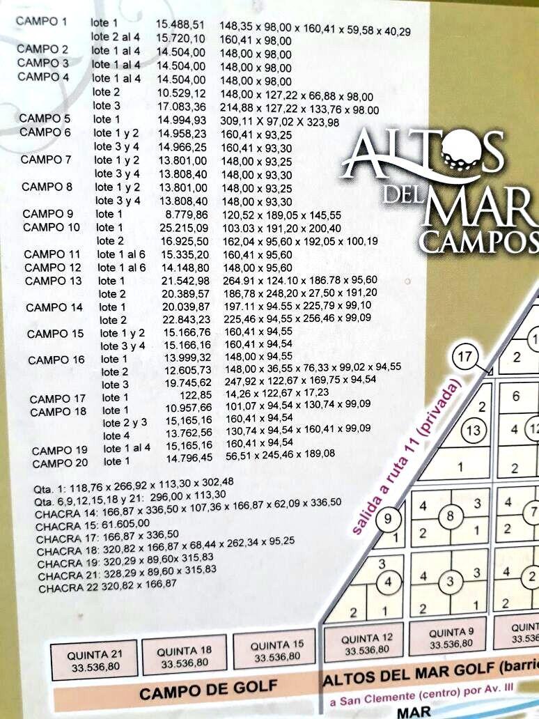 terreno quinta1 san clemente del tuyú 32256.51 m²