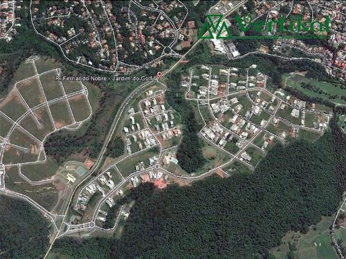 terreno residencial a venda, condominio reserva santa maria, granja viana - v-3284