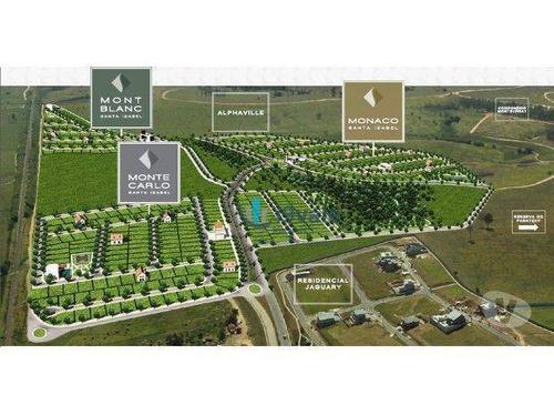 terreno residencial em condomínio clube à venda, 451m², condomínio mont carlo, urbanova, são josé dos campos-sp. - te0023