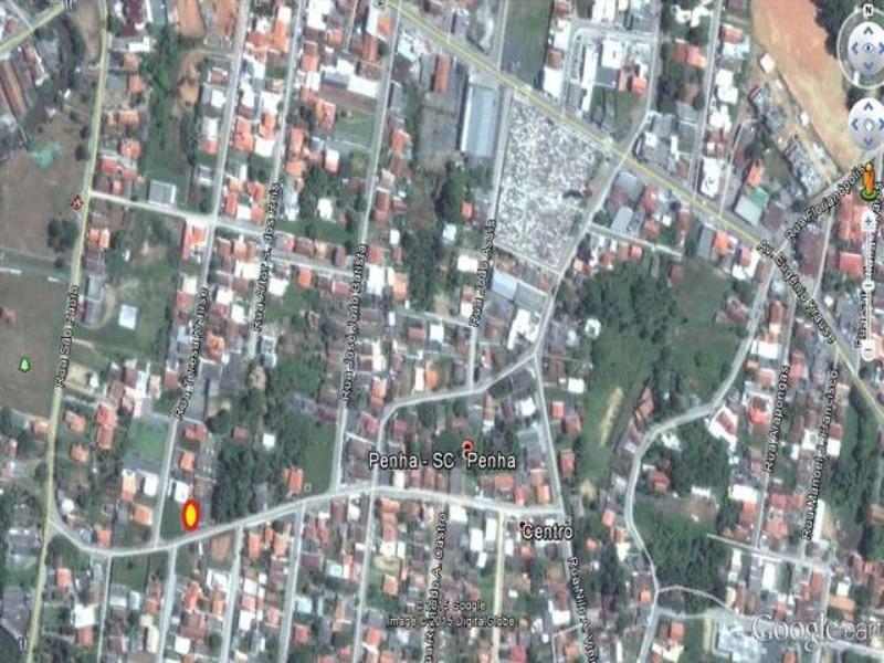 terreno residencial em penha - sc, centro - 150h