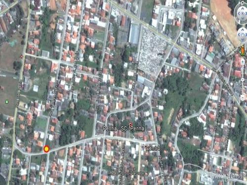 terreno residencial em penha - sc, centro - 180m
