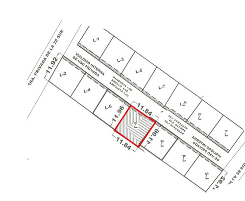 terreno residencial en privada de 20 casas, zona uvm