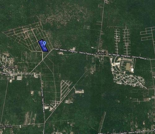 terreno residencial kaab, al norte de mérida con seguridad y todos los servicios