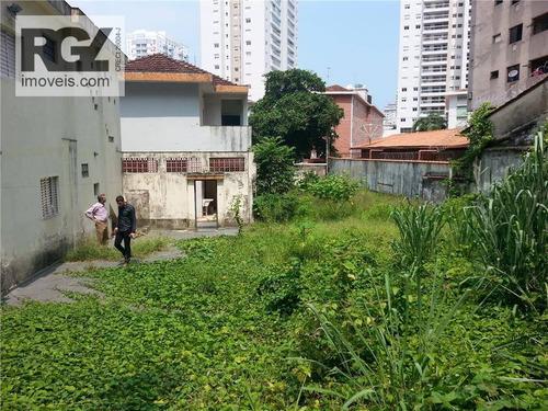 terreno  residencial ou comercial à venda, marapé, santos. - te0036