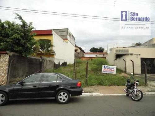 terreno residencial para locação, vila nossa senhora de fátima, americana. - te0007