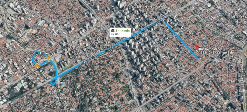 terreno residencial plano esquina z1 à venda, 325 m² por r$ 1.200.000 - rua república do iraque, 300 - campo belo - são paulo/sp - te0317 - te0317