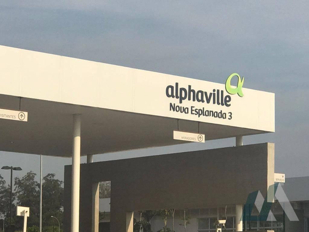 terreno residencial à venda, alphaville nova esplanada iii, votorantim. - te0602
