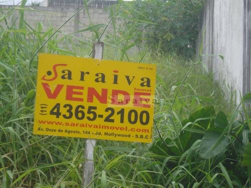 terreno residencial à venda, anchieta, são bernardo do campo. - te0003