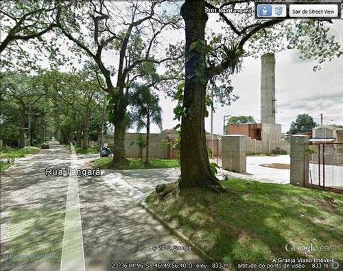 terreno  residencial à venda, bosque do vianna, granja viana, cotia. - te0033