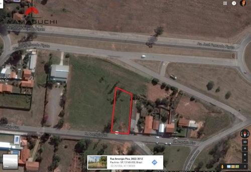 terreno residencial à venda com 1.145 m² , parque da represa, paulínia. - codigo: te0014 - te0014