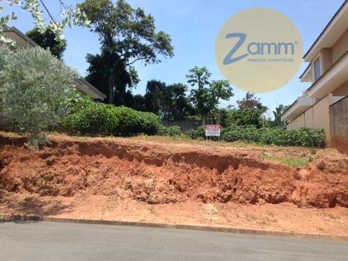 terreno residencial à venda, condomínio aldeia da mata, valinhos - te0462. - te0462