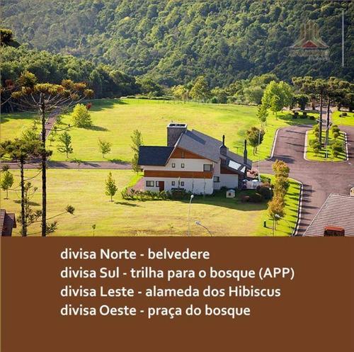terreno residencial à venda, condomínio aspen moentain, gramado - te0046. - te0046