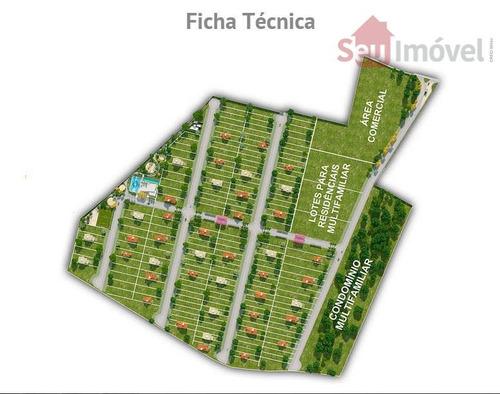 terreno residencial à venda, jacundá, eusébio. - te0172