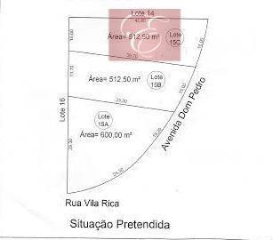 terreno  residencial à venda, jardim colonial, cotia. - te0858