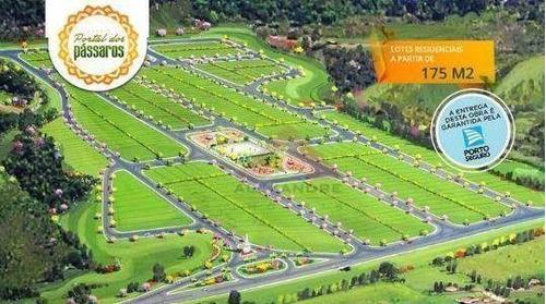 terreno residencial à venda, jardim portal dos pássaros, são josé dos campos - te0403. - te0403