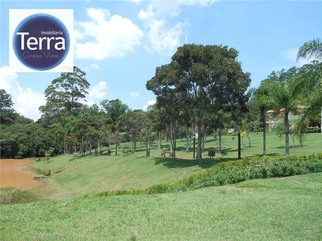 terreno  residencial à venda, parque das artes, granja viana. - te0245
