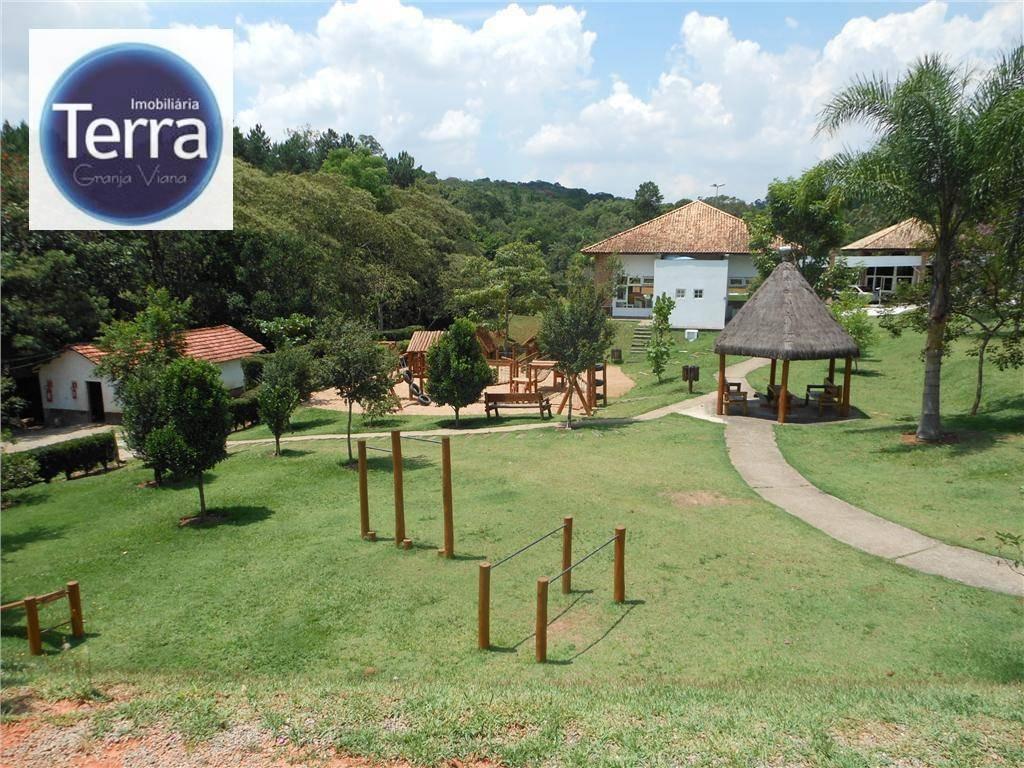 terreno  residencial à venda, parque das artes, granja viana. - te0402