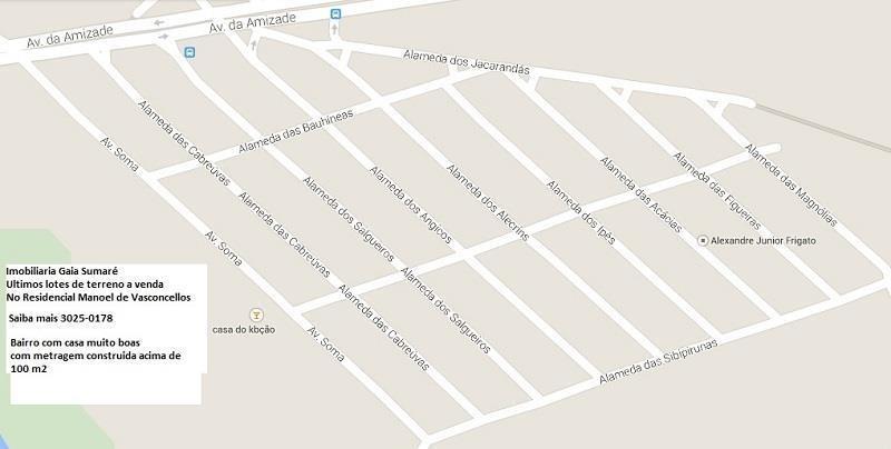 terreno  residencial à venda, parque manoel de vasconcelos, sumaré. - te0472