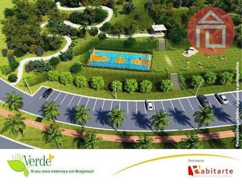terreno residencial à venda, residencial villa verde, bragança paulista - te0295. - te0295