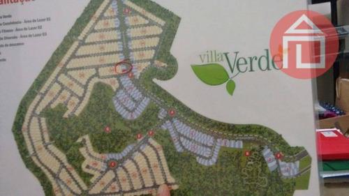 terreno residencial à venda, residencial villa verde, bragança paulista - te0699. - te0699