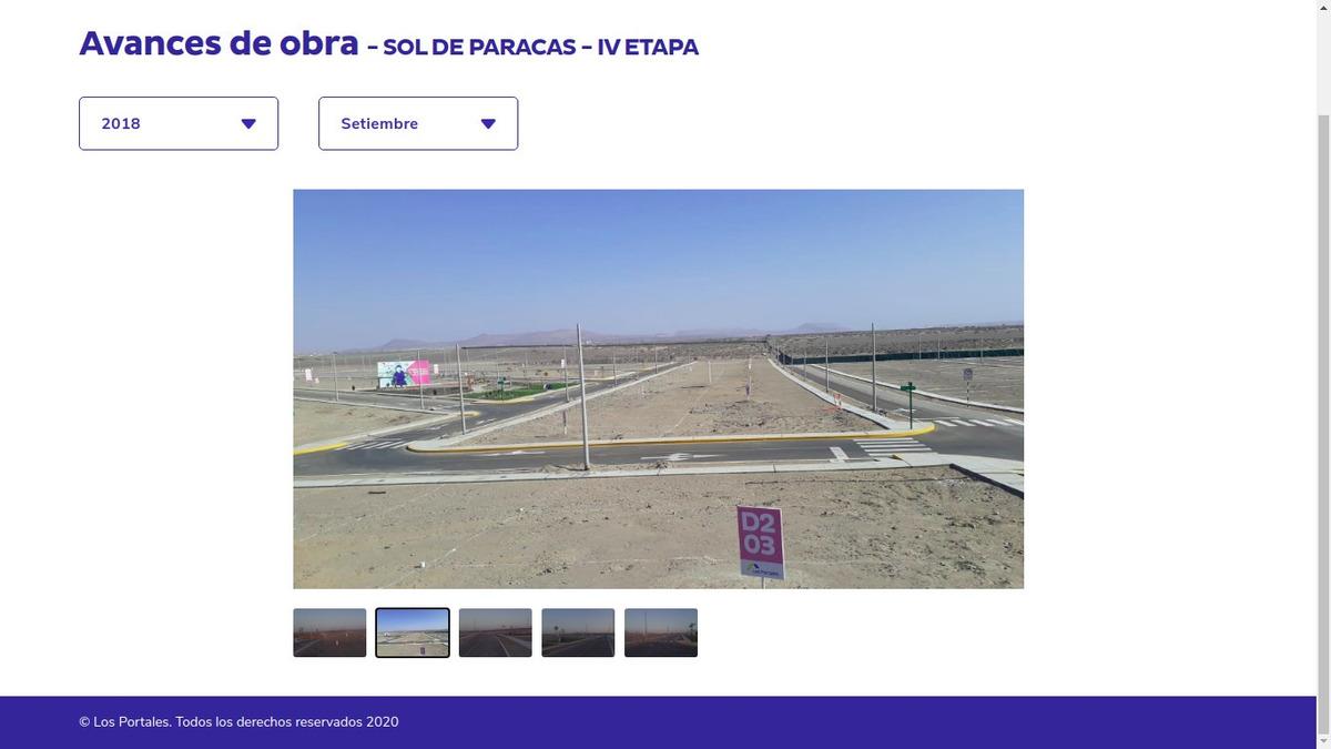 terreno seguro y asegurado sol de paracas - iv etapa