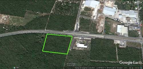 terreno sobre carretera merida motul para desarrollo industrial o inmobiliario.