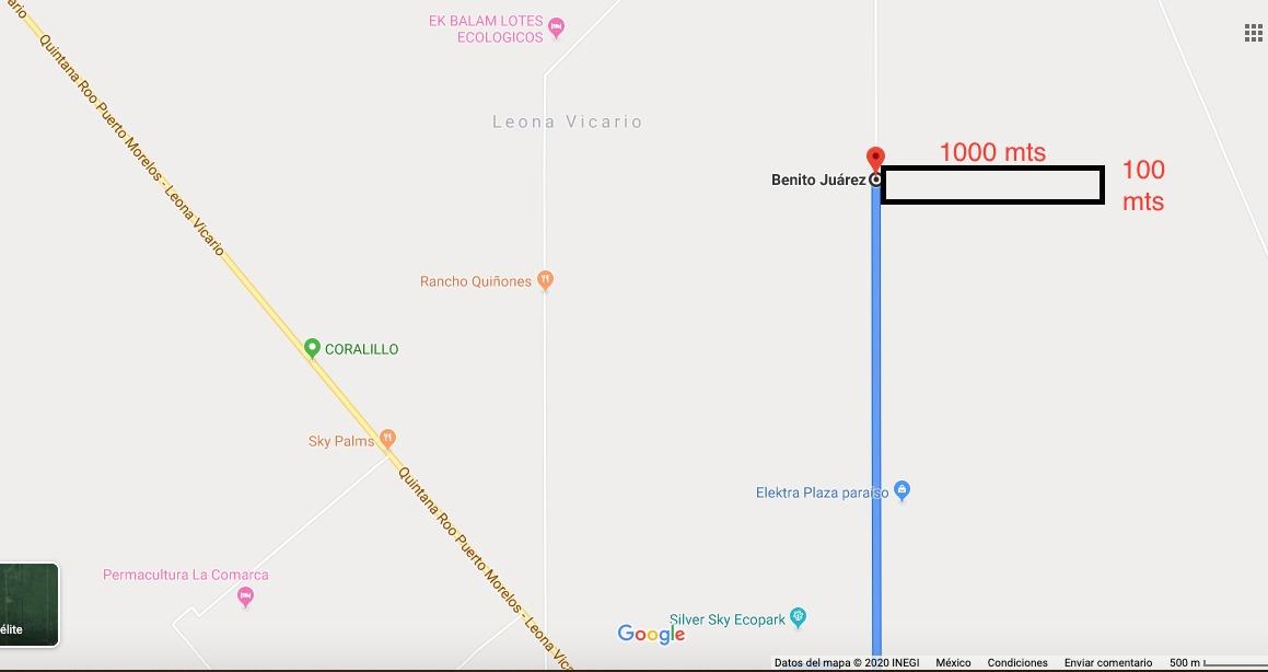 terreno sobre ruta de los cenotes - oportunidad 10 ha