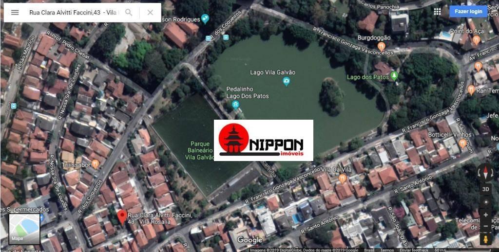 terreno totalmente plano, murado, residencial, pronto para construção em ótima localização, 200 m² por r$ 350.000- vila rosália - guarulhos/sp - te0030