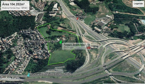 terreno tremembé / rodoanel - 104.252m² - te0107