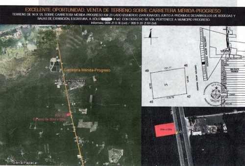 terreno ubicado en km 23 de carretera mérida - progreso.