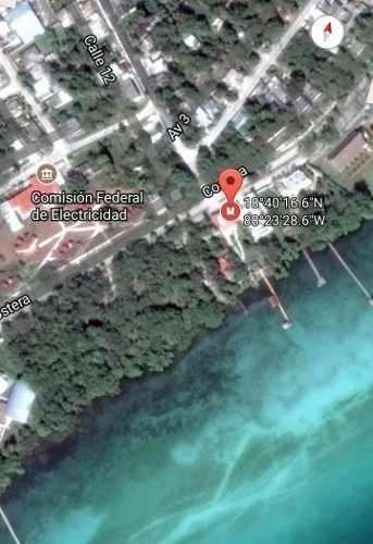 terreno ubicado frente del bañiario de bacalar