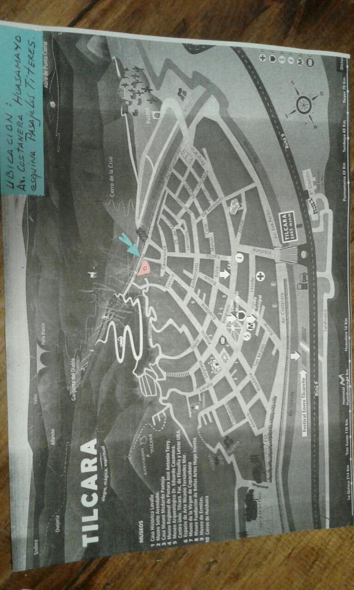 terreno unico en tilcara centro. 1/2 ha. opcion fraccionado
