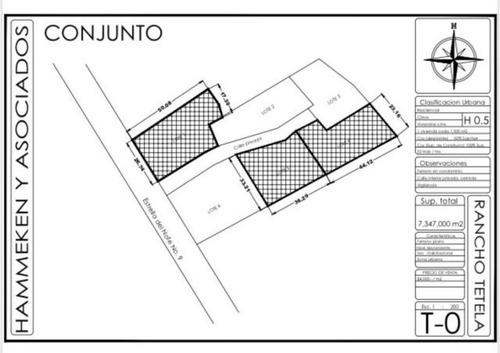 terreno urbano en rancho tetela / cuernavaca - ham-70-tu