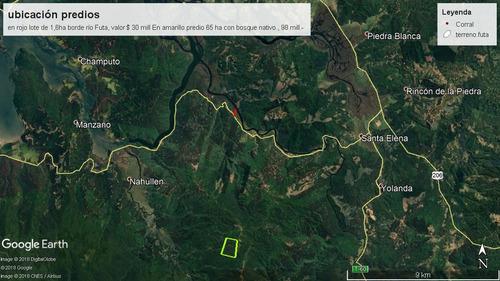 terreno valdivia  bosques nativos 65 ha reserva valdiviana